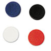 Interchangeable Magnetic Characters, Circles, Assorted, 3/4&quot; Dia, 10/Pack