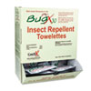 BugX Insect Repellent Towelette, .27 oz, 50 per Box