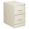Two-Drawer Economy Vertical File, 18-1/4w x 26-1/2d x 29h, Light Gray