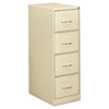 Four-Drawer Economy Vertical File, 18-1/4w x 26-1/2d x 52h, Putty