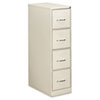 Four-Drawer Economy Vertical File, 15w x 26-1/2d x 52h, Light Gray