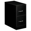Two-Drawer Economy Vertical File, 15w x 26-1/2d x 29h, Black
