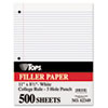 TOPS Filler Paper, 16-lb., 11 x 8-1/2, College Rule, White, 500 Sheets/Pack