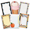 Notepad Set, School Theme, 6 50-Sheet Pads/Set