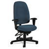 Global Granada Series High-Back Multi-Tilter Chair, Polypropylene Fabric, Navy Blue
