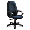 Global Enterprise Series High-Back Swivel/Tilt Chair, Polypropylene Fabric, Navy