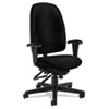 Global Granada Series High-Back Multi-Tilter Chair, Polypropylene Fabric, Black