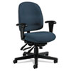Global Granada Series Low-Back Multi-Tilter Chair, Polypropylene Fabric, Navy Blue