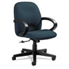 Global Enterprise Series Low-Back Swivel/Tilt Chair, Polypropylene Fabric, Navy
