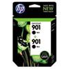 HP 901, (CZ075FN) 2-pack Black Original Ink Cartridges