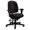 Global Granada Series Low-Back Multi-Tilter Chair, Polypropylene Fabric, Black