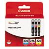 Canon 4547B005 (CLI-226) Ink, Cyan, Magenta, Yellow, 3/Pk