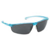 Refine 202 Safety Glasses, Wraparound, Gray AntiFog Lens, Teal Frame