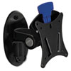 BALT Low Profile Ergonomic Wall Mount, Steel/Plastic, 9 x 9 x 7, Black