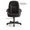 VL601 Series Managerial Mid-Back Swivel/Tilt Chair, Black Fabric &amp; Frame