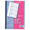 TOPS Money/Rent Receipt Books, 2-3/4 x 7 1/8, Three-Part Carbonless, 100 Sets/Book