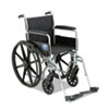 Medline Excel K1 Basic Wheelchair, 18 x 16, 300lb Cap