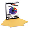 Colored Paper, 20lb, 8-1/2 x 11, Goldenrod, 500 Sheets/Ream