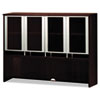 Napoli Series Assmbld Hutch with Glass Doors, 72w x 15d x 50h, Mahogany