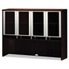 Napoli Series Assmbld Hutch with Glass Doors, 63w x 15d x 50h, Mahogany