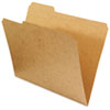 Kraft File Folders, 1/3 Cut Assorted, Top Tab, Letter, Brown, 100/Box