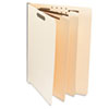 Manila End Tab Folders with Full Cut, Letter, Six-Section, 10/Box