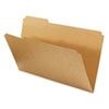 Kraft File Folders, 1/3 Cut Assorted, Top Tab, Legal, Brown, 100/Box