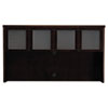 Mira Series Wood Veneer Framed Glass Hutch Doors, Espresso