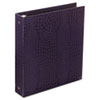 "PROformance Crocodile Embossed Ring Binder, 1"" Capacity, Purple"
