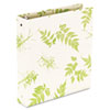 "Bamboo Round Ring Binder, 1"" Capacity, 11 x 8-1/2"