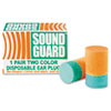 AbilityOne 6515001376345 Ear Plugs, Uncorded, PVC Foam, Orange/Green, 200 Pairs/Pack