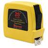 AbilityOne 5210011397444 Tape Measure, Locking, Steel/Plastic, 25' x 3/4