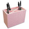Aurora Products ProFormance Crocodile Embossed Pencil Cup, 5 3/8 x 2 x 4 1/8, Pink