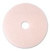 "Eraser Burnish Floor Pad 3600, 20"", Pink, 5 Pads/Carton"