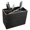Aurora Products ProFormance Crocodile Embossed Pencil Cup, 5 3/8 x 2 x 4 1/8, Black