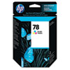 C6578DN (HP 78) Ink Cartridge, 560 Page-Yield, Tri-Color