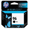C8767WN (HP 96) Ink Cartridge, 860 Page-Yield, Black