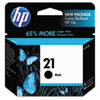 C9351AN (HP 21) Ink Cartridge, 190 Page-Yield, Black