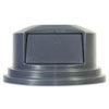 "Rubbermaid Commercial Round Brute Dome Top Lid for 55gal Waste Containers, 27 1/4"" dia, Gray"