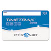 Pyramid Technologies Time Clock Badges for Software Based Time/Attendance Terminal, Numbered 51-100