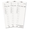 Pyramid Technologies Time Card for Model 4000 Payroll Recorder, 3-1/2 x 8-1/2, 100/Pack