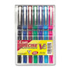 Pilot Precise V5 Roller Ball Stick Pen, Needle Pt, Asst Inks, 0.5mm Extra Fine, 7/Pack