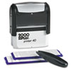 COSCO 2000 PLUS Custom Stamp Kit with Microban, 5 Lines, Black, 2 5/16 x 7/8