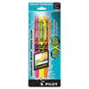 Pilot Frixion Lite Erasable Highlighter, Assorted Ink, Chisel, 3/Pack