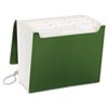 SuperTab Accordion Expanding File, 12 Pockets, Letter, Green, 1/EA
