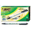 BIC Ecolutions Clic Stic Ballpoint Retractable Pen, Black Ink, 1mm, Medium, Dozen