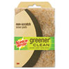 Greener Clean Non-Scratch Scour Pad, 4 x 6, Natural, 2/Pack