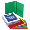 "Twin-Pocket Folders with 3 Fasteners, Letter, 1/2"" Capacity, Assorted, 25/Box"