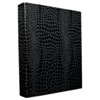 "PROformance Crocodile Embossed Ring Binder, 1"" Capacity, Black"
