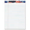 TOPS American Pride Writing Pad, Jr. Legal Rule, 8-1/2 x 11-3/4, White, 50-Sheet, Dz.